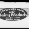 Store banners, Helms Bakery, Southern California, 1936