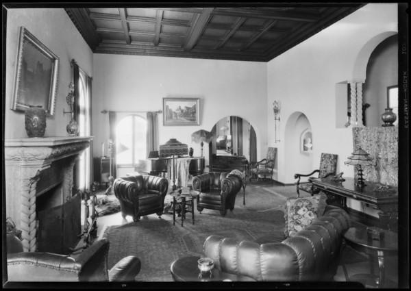Philip Norton's home in Highland Hills, Los Angeles, CA, 1927