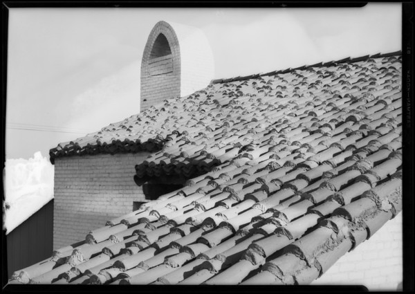 Tile roof, Southern California, 1928