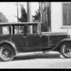 Franklin sedan, B. Brownstein, owner, Southern California, 1934