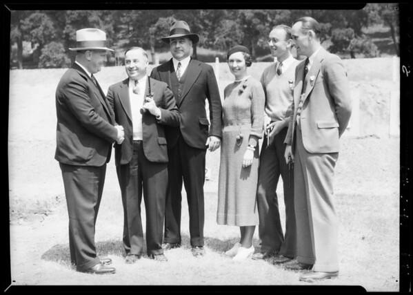 Chief Davis & winners of pistol shooting contest, Southern California, 1934