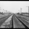 Railroad track at Aviation Avenue & San Fernando Road, Los Angeles, CA, 1930