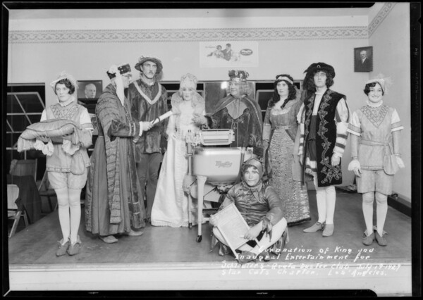 Coronation at Quota Boosters Club, Southern California, 1927