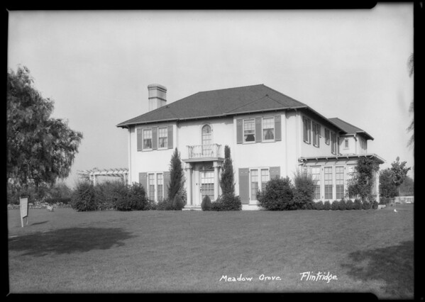 Newton home, Meadow Grove Street, La Cañada Flintridge, CA, 1925
