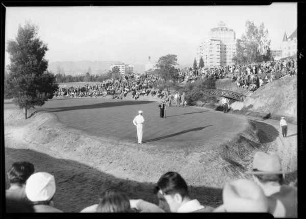Golf tournament, Wilshire Country Club, Los Angeles, CA, 1933