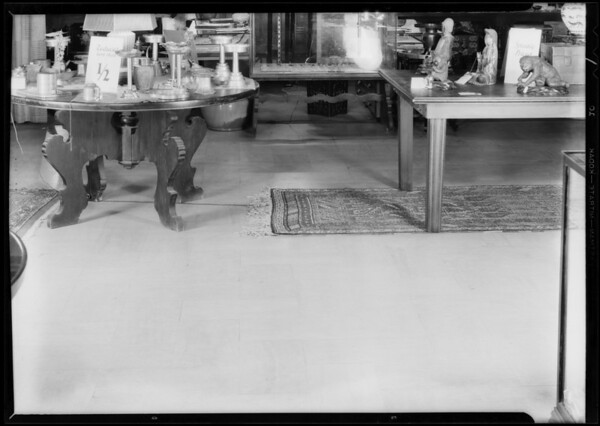 Women tripped on rug, Barker Brothers, Southern California, 1932