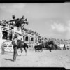 Public address system at Hoot Gibson Rodeo, Southern California, 1934