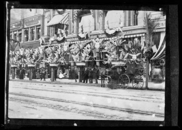 Old window displays, Southern California, 1932