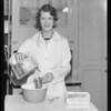 Ann Martin using Bake-Ezy gingerbread flour, Southern California, 1933