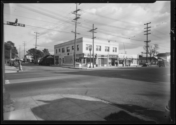 Intersection, West 51st Street & South Main Street, Los Angeles, CA, 1932