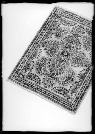Xmas rugs, Bullock's, Southern California, 1933