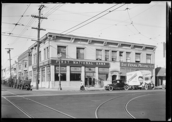 Hollywood Boulevard & North Highland Avenue branch, Los Angeles, CA, 1924