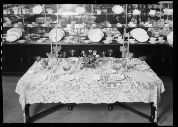 Correctly set tables, Los Angeles, CA, 1926