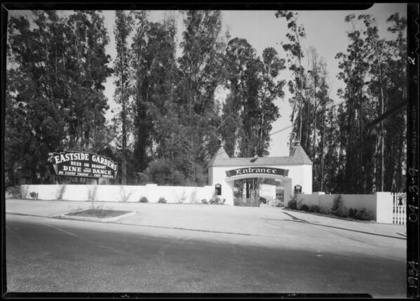 Eastside Gardens, Los Angeles, CA, 1934