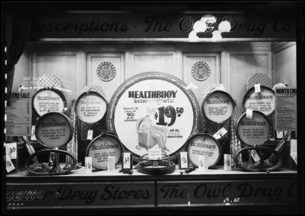 Window display, South Hill Street and West 6th Street, Los Angeles, CA, 1927