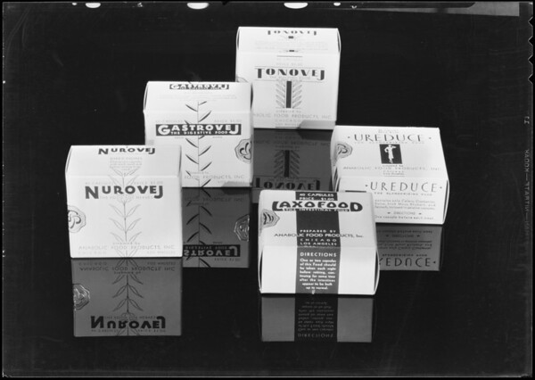 Assortment of boxes, Southern California, 1932