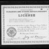 Building and cleaning license, Southern California, 1927