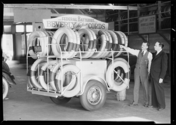 Publicity, Austin delivery etc., Southern California, 1933