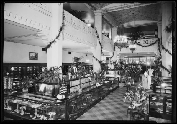 Store interiors, Harris and Frank, Southern California, 1927