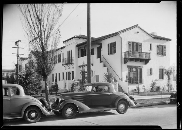 Henry Sutcliffe's apartment, Southern California, 1933