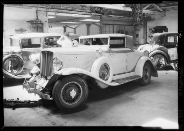 Auburn, Universal Auto Insurance, Southern California, 1934