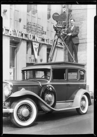 Pathe News cameraman, Southern California, 1933
