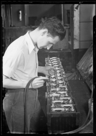 Operations of manufacturing battery, Southern California, 1933