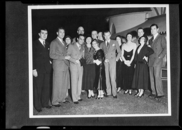 Groups of movie folk, Southern California, 1932