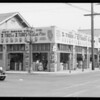Exterior of tire store at Venice Boulevard and South Vermont Avenue, Los Angeles, CA, 1933