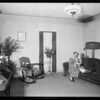 Apartment interior, Southern California, 1926