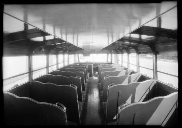 Calexico Union High School bus, Southern California, 1934