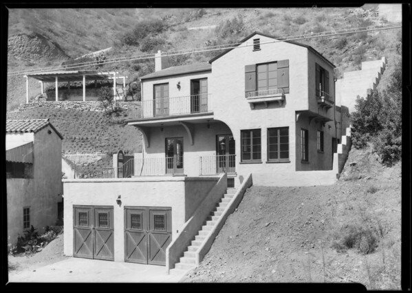 Hillside home, 2443 Holly Drive, Los Angeles, CA, 1925