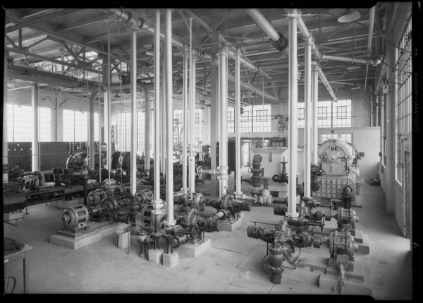 Electrical motors at Goodrich plant, Southern California, 1928