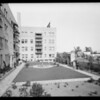 Havenhurst Apartments, apartment garden, Los Angeles, CA