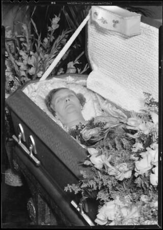 Mrs. Sundberg, deceased, Southern California, 1933