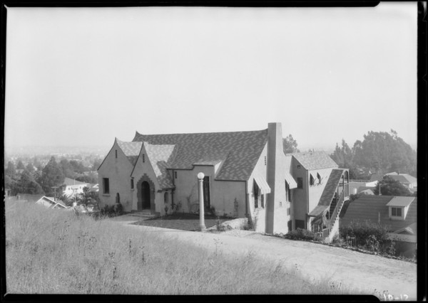 Homes on hillside, Southern California, 1924