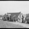 Homes on hillside, Southern California, 1924