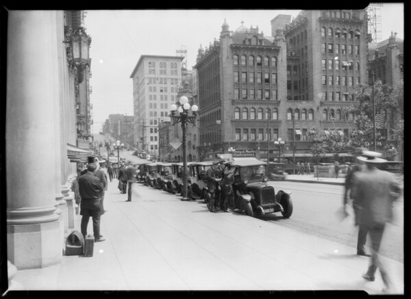 Yellow Cabs at Philharmonic Auditorium, Los Angeles, CA, 1926