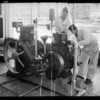 Students working on diesel motors, Southern California, 1935