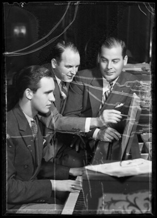 Jimmie Grier and arrangers, Southern California, 1935
