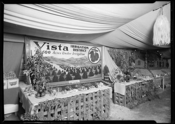 Vista booth at Riverside Fair, San Diego, CA, 1926
