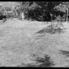 Vacant lot showing pipe boundary marker, Franklin Avenue and North Kenmore Avenue, Los Angeles, CA, 1935