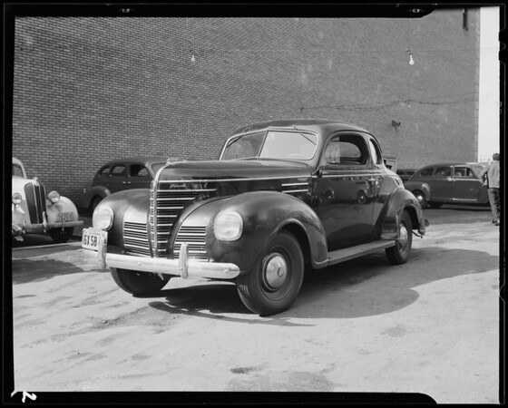 1939 Plymouth coupe, 621 South Hope Street, Los Angeles, CA, 1940