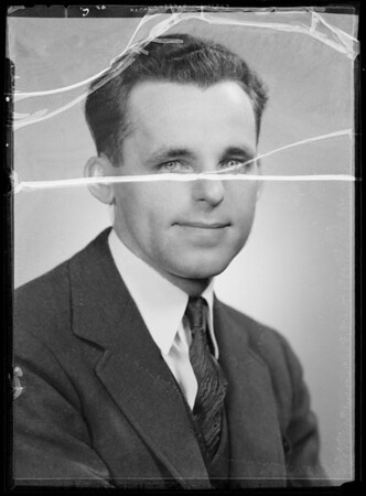 Portrait of G.W. Rechenmacher, Southern California, 1935