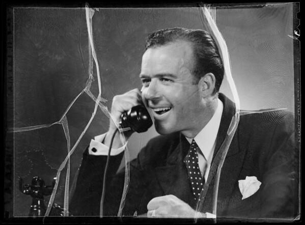 Man phoning, Southern California, 1935
