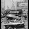 Wrecked Buick sedan, Southern California, 1935