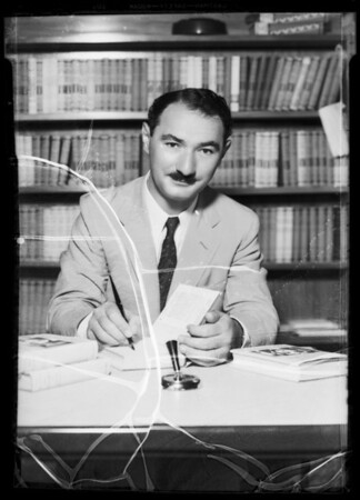 Erwin Browne, author, Southern California, 1935