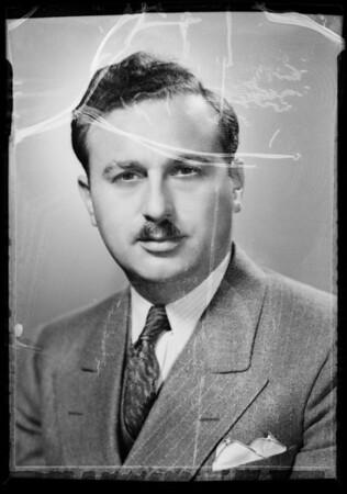 Portrait of Sam Rosencranz, Southern California, 1936