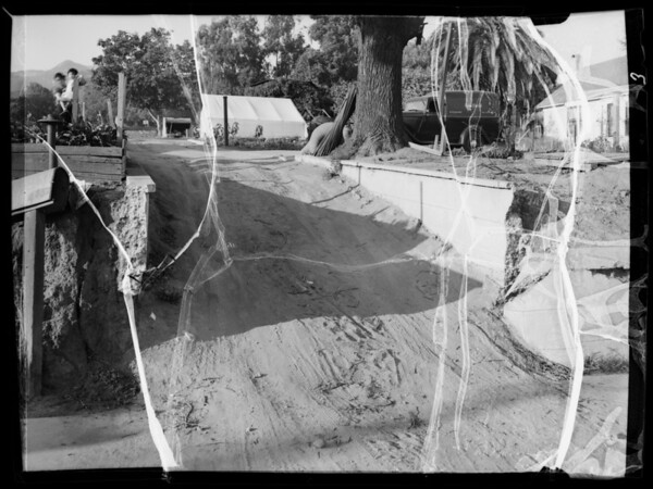 1935 Dodge truck and driveway, Southern California, 1935