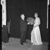 Dr. Korybut and Pearl Majoros at Assistance League Playhouse, 1365 North St. Andrews Place, Los Angeles, CA, 1940